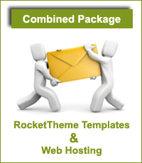 Combinatie RocketTheme Template, WebHosting & Support